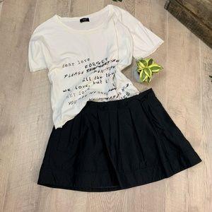 Express Design Studio Black Pleated Mini Skirt